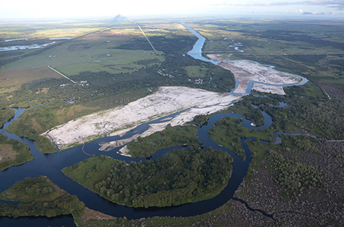photo of Kissimmee River backfilling