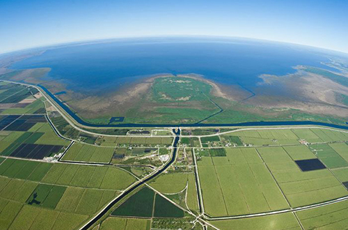 photo of Everglades Agricultural Area and Lake Okeechobee