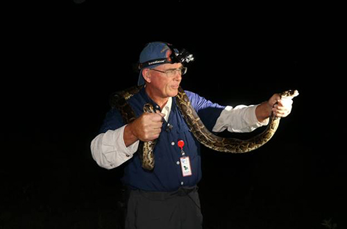 photo of Congressman Francis Rooney with a Burmese python