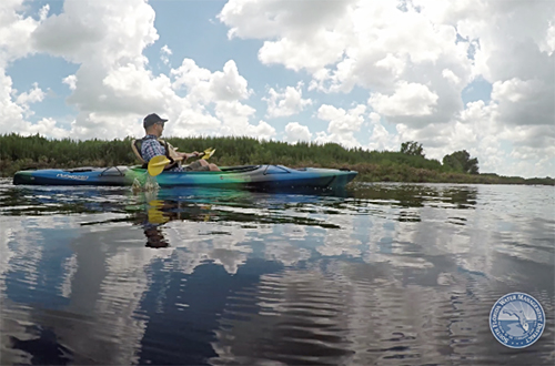 photo of Rep. Soto kayaking Kissimmee River