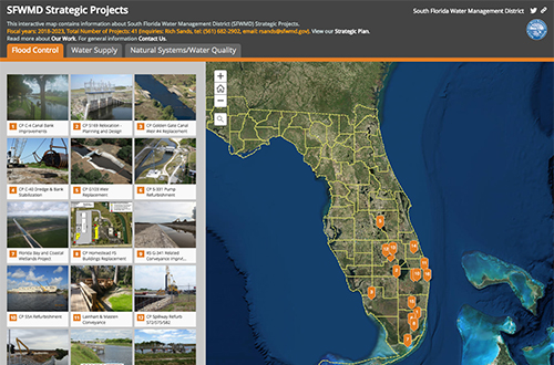 screenshot of Strategic Projects Interactive Map