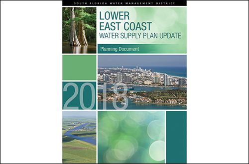 cover of the 2018 Lower East Coast Water Supply Plan update