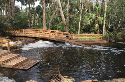 photo of the Lainhart Dam on the Loxahatchee River