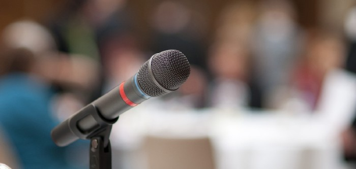 microphone at public meeting