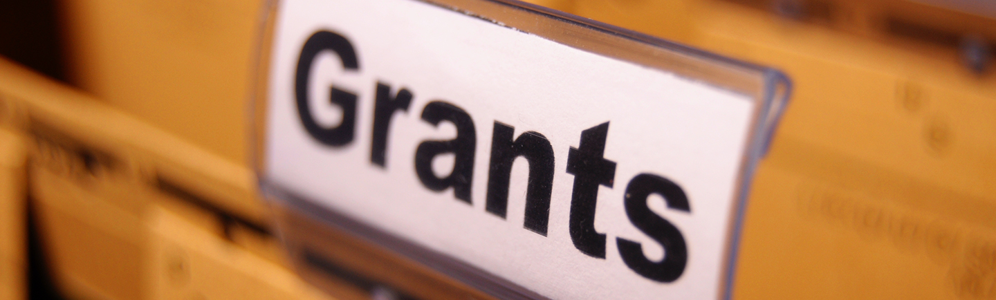 file folder titled Grants