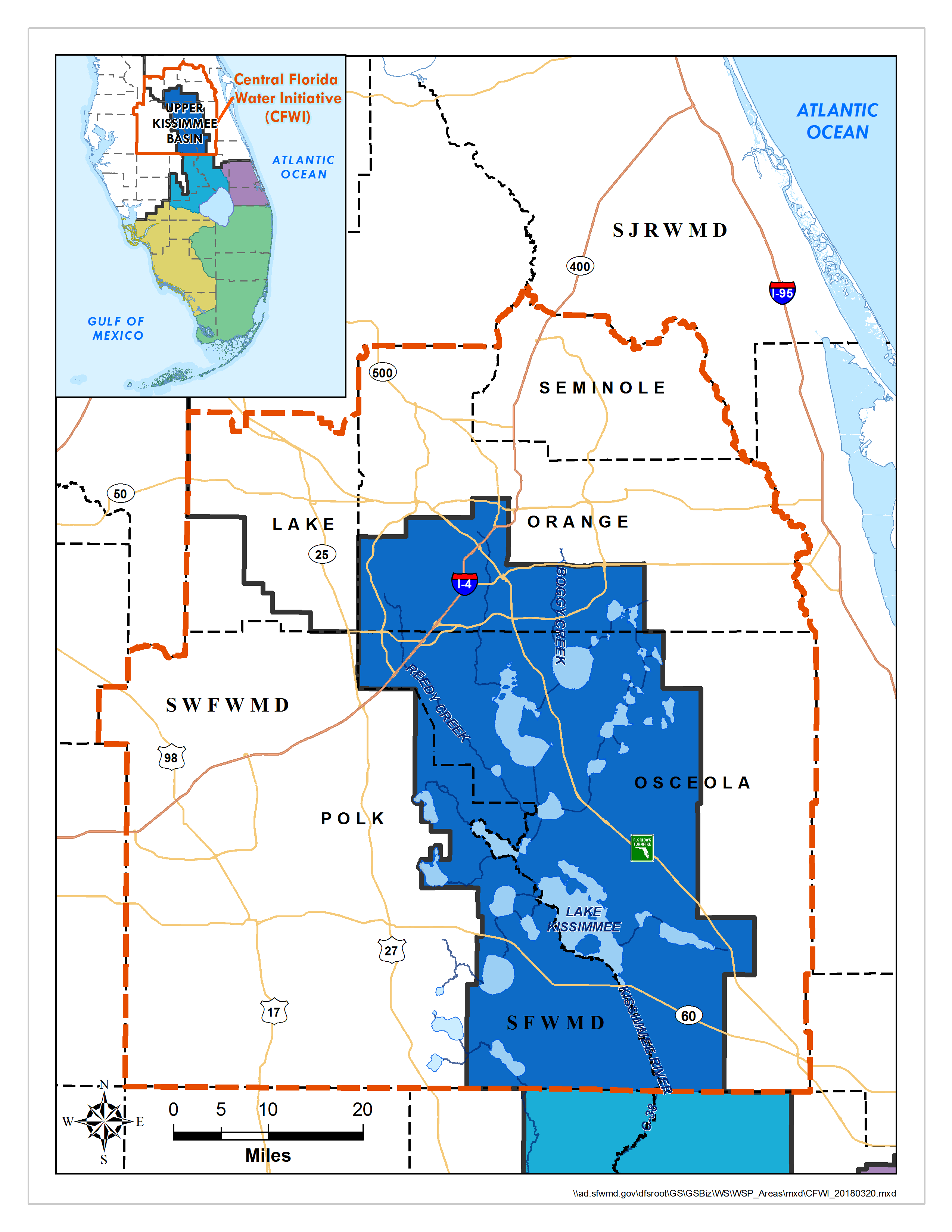 Map: Central Florida Water Initiative (CFWI) Regional Water Supply ...