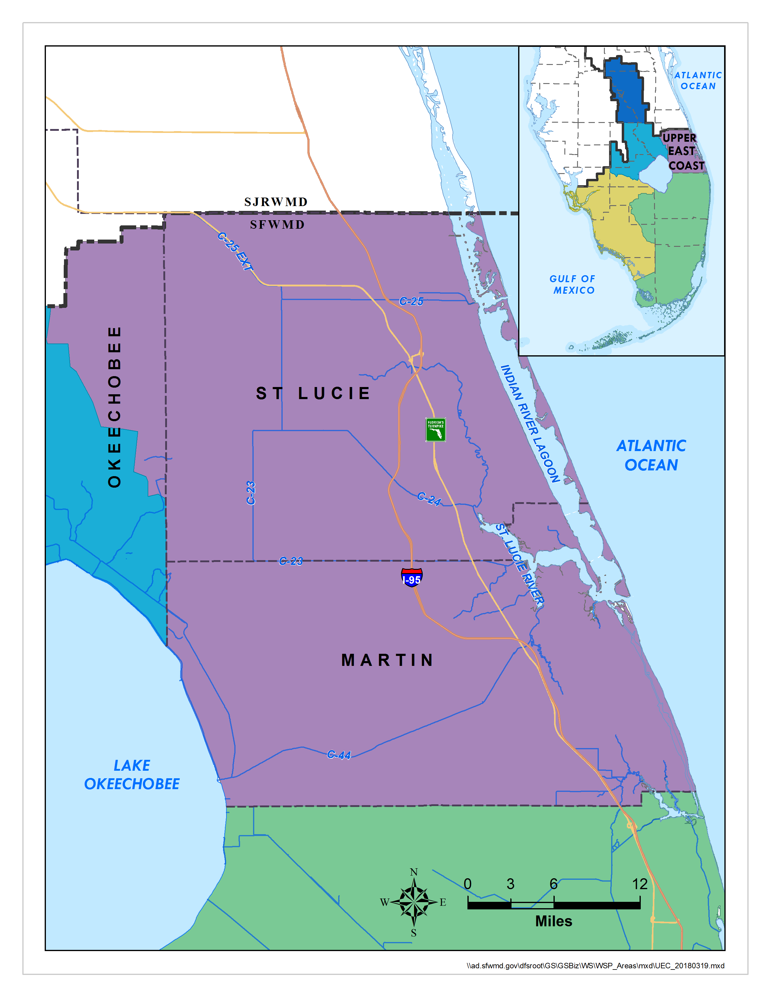 Map: Upper East Coast Water Supply Plan Area | South Florida ...
