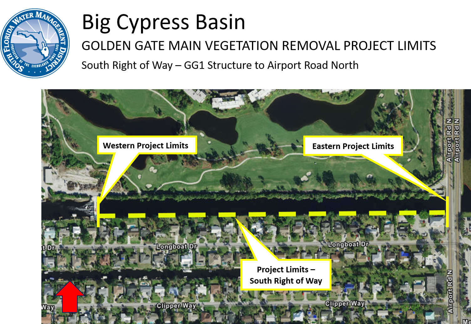 MAP: Golden Gate Canal Tree Removal Project - Phase 5