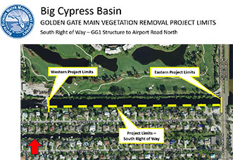 Click for map of Golden Gate Canal Tree Removal Project - Phase 5
