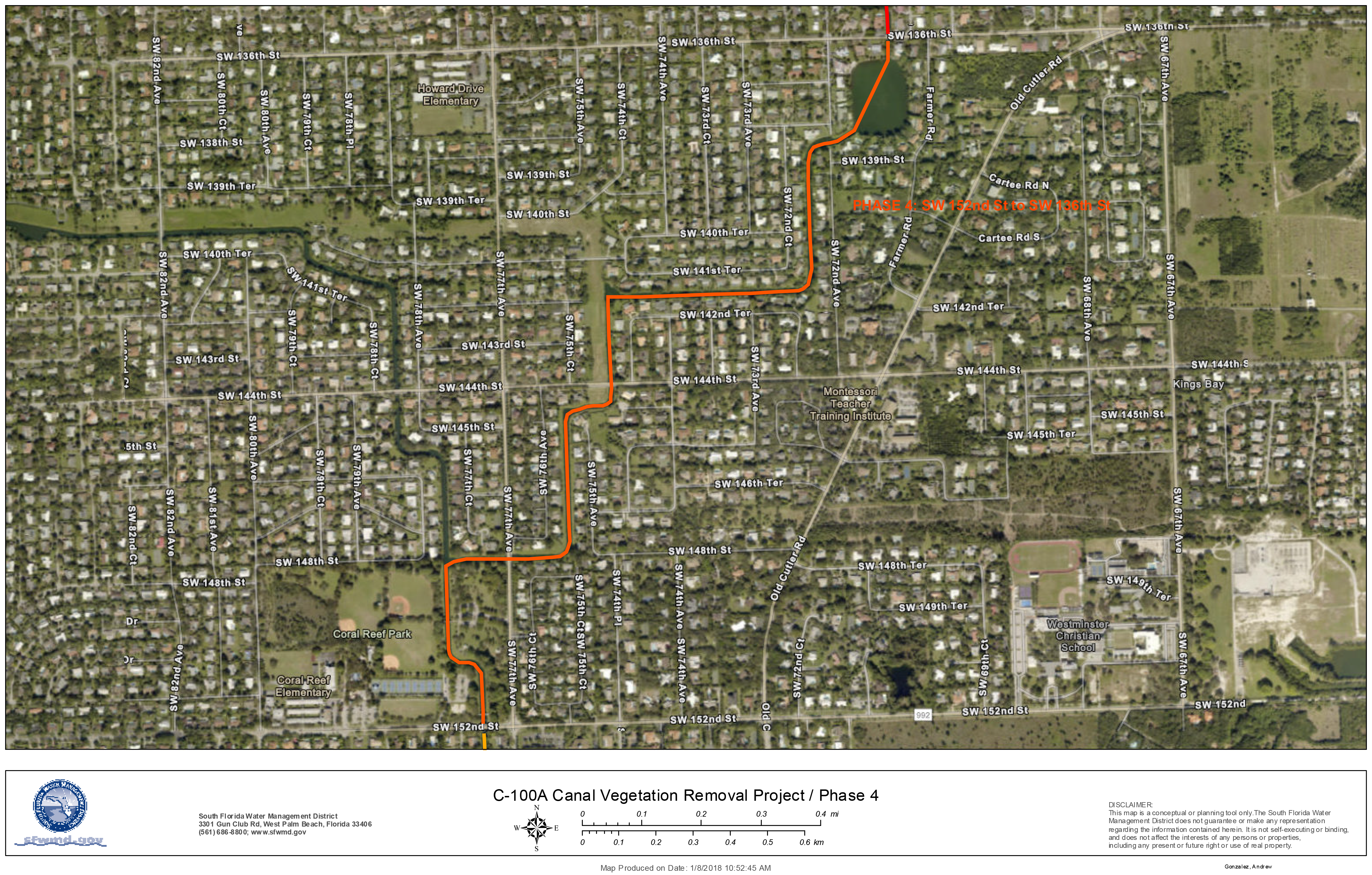 MAP: C-100A Canal Vegetation Removal Project - Phase 4
