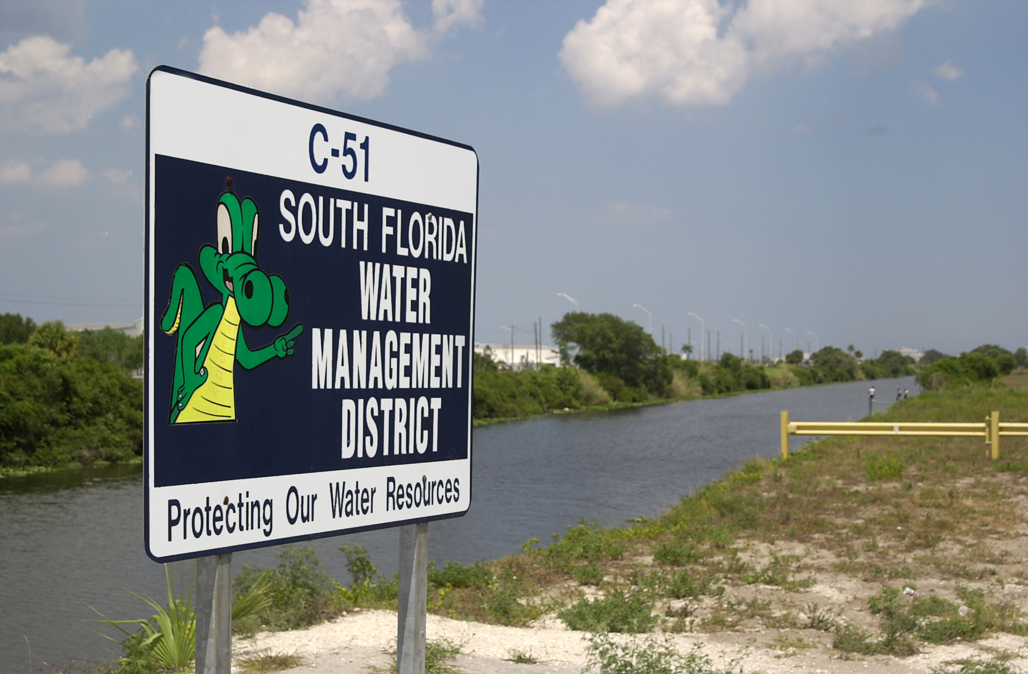 SFWMD Canal Sign