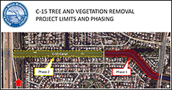 Click for map of C-15 Tree and Vegetation Removal Project
