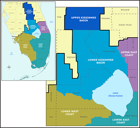 lower Kissimmee basin water supply map