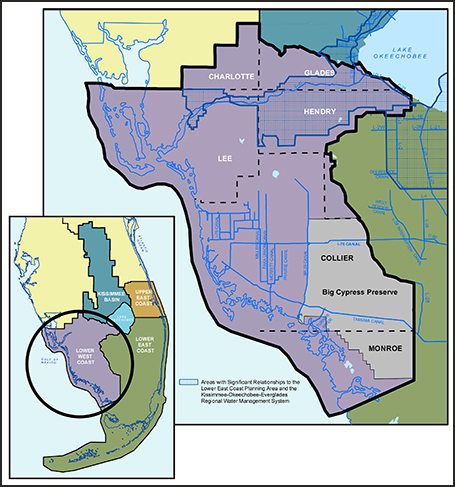 lower west coast water supply plan map