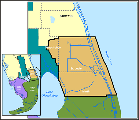 Upper East Coast Water Supply Plan South Florida Water - Map of the east coast of florida