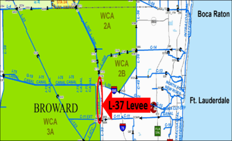 Map of L-37 Levee