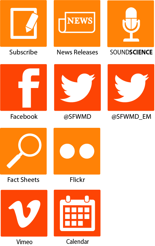 Links for ways to get updated information from SFWMD