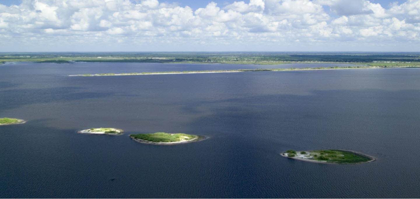 north view of lake okeechobee