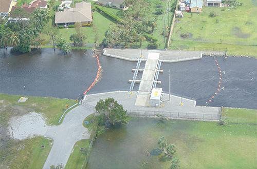 photo of Golden Gate Main Canal after Hurricane Irma
