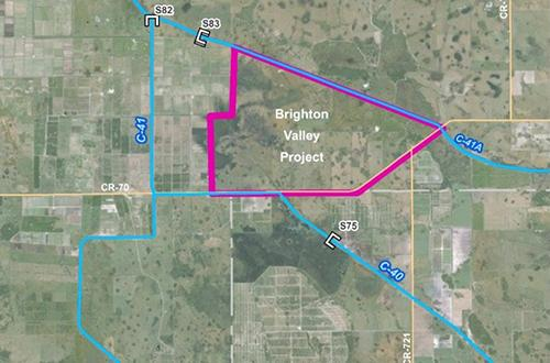 map of Brighton Valley Northern Everglades Public-Private Partnership Project