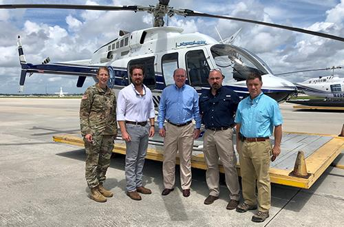 photo of SFWMD and federal officials before an aerial tour of Everglades restoration projects