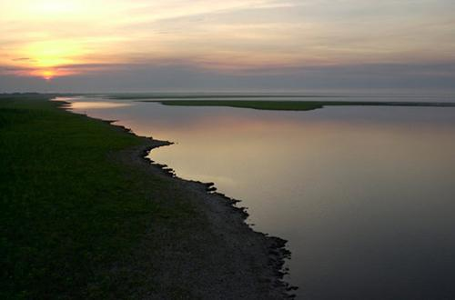 photo of sunset on Lake Okeechobee